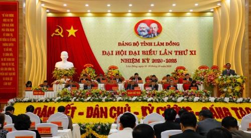 Đại hội Đảng bộ tỉnh Lâm Đồng lần thứ XI, nhiệm kỳ 2020 - 2025
