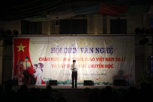 Đêm văn nghệ chào mừng ngày nhà giáo Việt Nam 20-11 và gây quỹ khuyến học