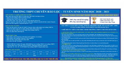 Điểm mới trong tuyển sinh lớp 10 Chuyên năm học 2020-2021