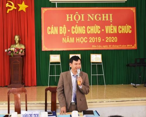 Hội nghị CB-CC-VC năm học 2019-2020