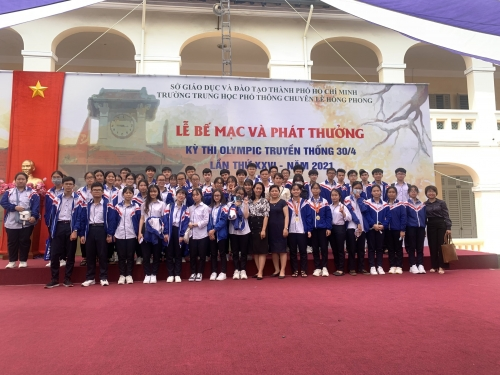 Kết quả cuộc thi Olympic 30/4 năm học 2020 - 2021