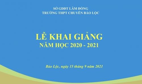 Thông báo về Lễ khai giảng năm học 2021 - 2022