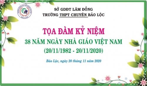 Tọa đàm kỷ niệm 38 năm Ngày Nhà Giáo Việt Nam 20/11