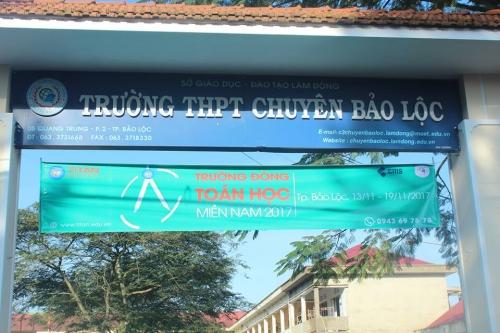 Trường Đông Toán học 2017 tổ chức tại THPT Chuyên Bảo Lộc