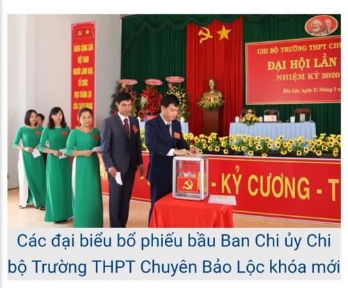 Trường THPT Chuyên Bảo Lộc tổ chức thành công Đại hội điểm chi bộ cơ sở